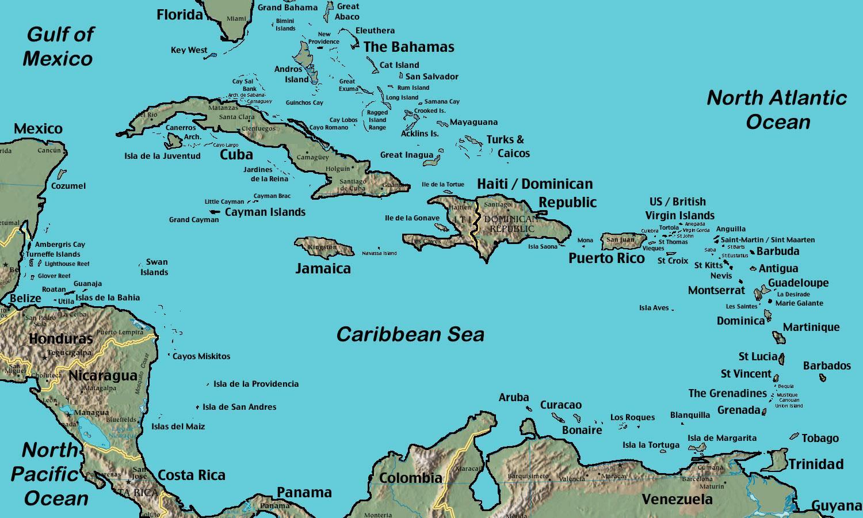 Belize Caribbean Kort Kort Af Belize Caribbean Mid Ameriku